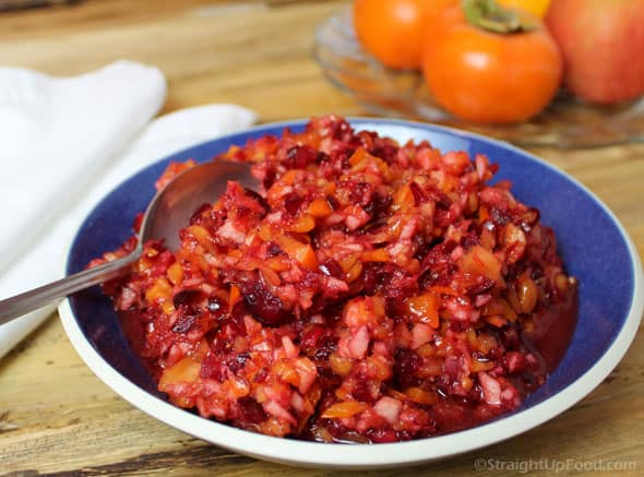 Raw Cranberry Persimmon Relish