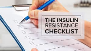 """blank checklist with a header that reads """"The Insulin Resistance Checklist"""""""